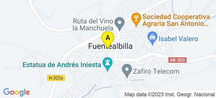 situacion en el mapa de . Direccion: Calle Magisterio nº 12, 02260 Fuentealbilla. Albacete