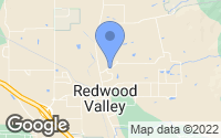 Map of Redwood Valley, CA