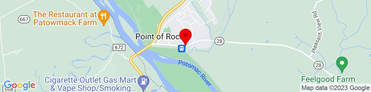 Google Map of 39.274094, -77.5320776