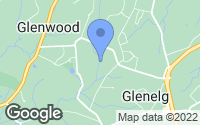 Map of Glenwood, MD