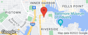 Map of 912 Light St in Baltimore