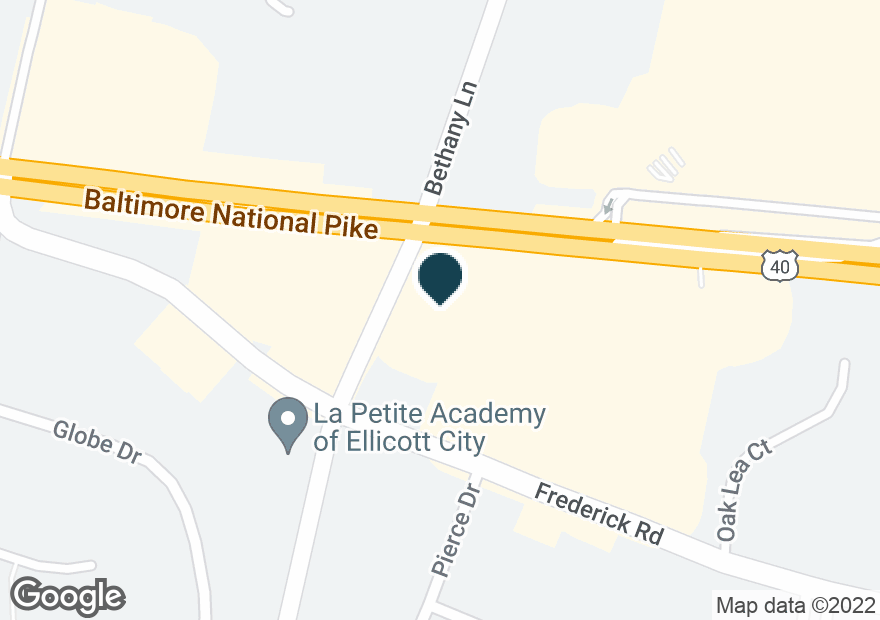 Google Map of10097 BALTIMORE NATIONAL PIKE
