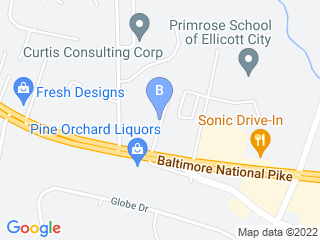 Map of Happy Dog Care Inc. Dog Boarding options in Ellicott City | Boarding