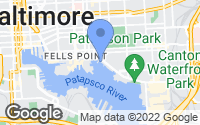 Map of Baltimore, MD