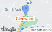 Map of Glenwood, MD