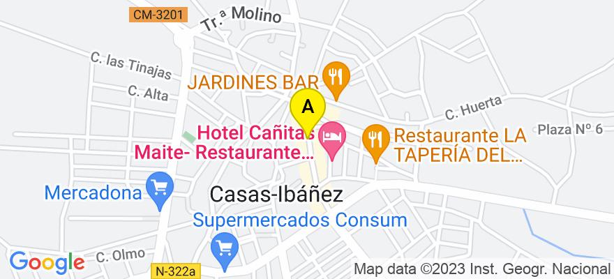 situacion en el mapa de . Direccion: TERCIA, 51, 02200 Casas-Ibáñez. Albacete