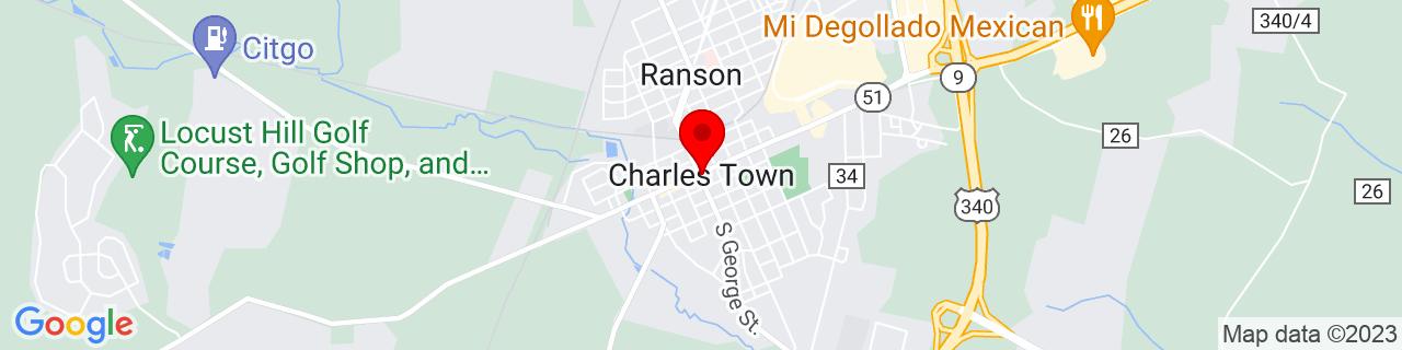 Google Map of 39.28899029999999, -77.8597175
