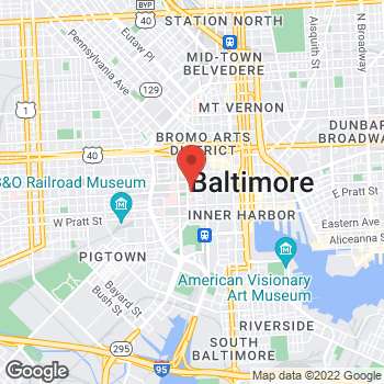 Map of Panera Bread at 413 West Baltimore Street, Baltimore, Maryland 21201