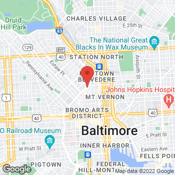 Map of Rite Aid at 250 West Chase Street, Baltimore, MD 21202
