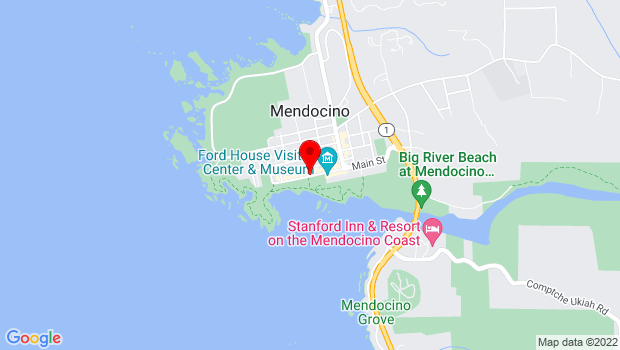 Google Map of Main & Kasten Streets, Mendocino, CA 95460