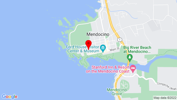 Google Map of Ukiah Street, Mendocino, CA 95460