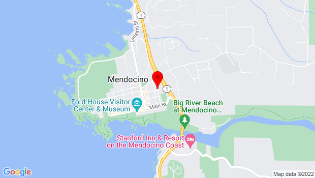 Google Map of 998 School St, Mendocino, CA 95460