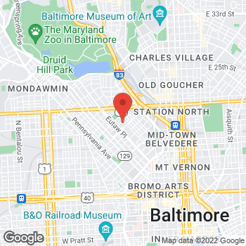 Map of Rite Aid at 238 McMechen Street, Baltimore, MD 21217