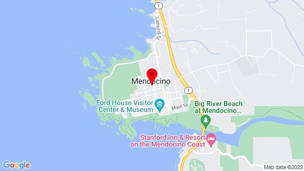 Google Map of Ford & Cahto Streets, Mendocino, CA 95460