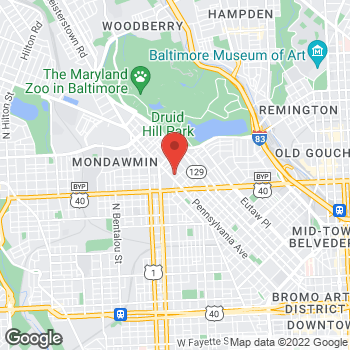 Map of Carquest Auto Parts at 2631 Pennsylvania Ave, Baltimore, MD 21217