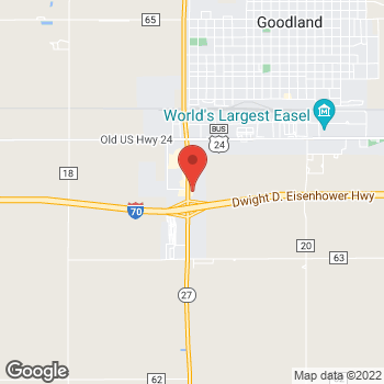 Map of Arby's at 2515 Enterprise Rd, Goodland, KS 67735