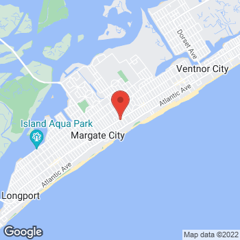 Map of Verizon Authorized Retailer, TCC at 7828 Ventnore Ave, Margate City, NJ 08402