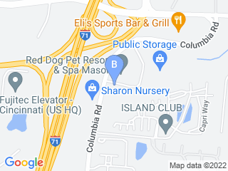 Map of Red Dog Pet Resort & Spa Dog Boarding options in Mason | Boarding