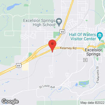 Map of Verizon Authorized Retailer – TCC at 122 Corum Rd, Excelsior Springs, MO 64024