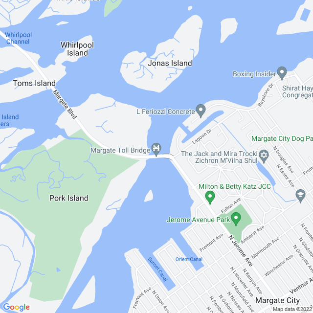 Map of Margate Bridge