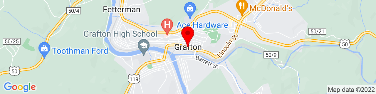 Google Map of 39.3409249, -80.0189659