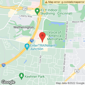 Map of D M Moczek Optometrist, LLC at 7675 Voice Of America Centre Drive, West Chester, OH 45069