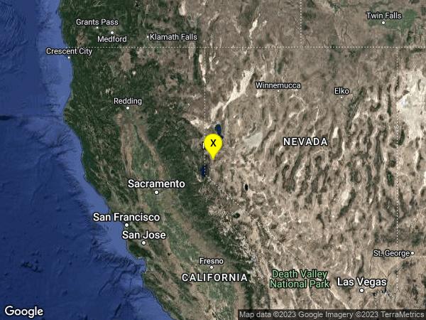 earthquake 9 km WNW of Virginia City, Nevada
