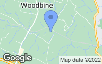 Map of Woodbine, MD