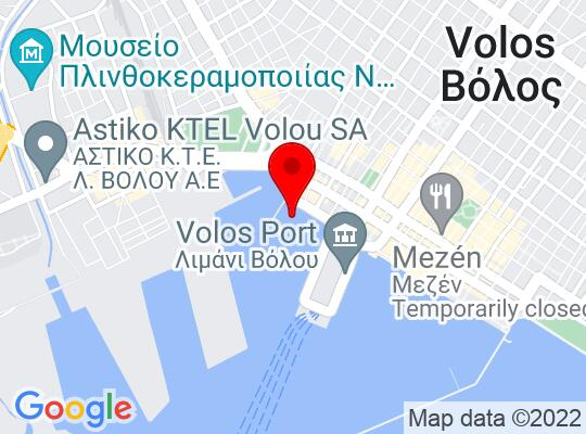 Google Map of Volos