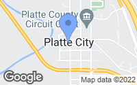 Map of Platte City, MO