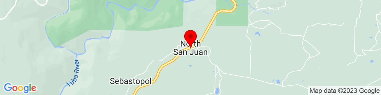 Google Map of 39.3700973, -121.1038655