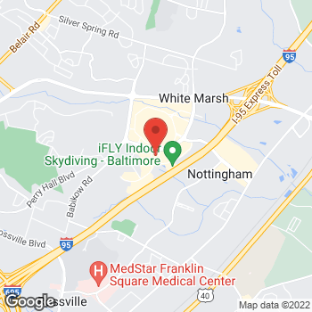 Map of Staples at 8115 Honeygo Blvd, Nottingham, MD 21236