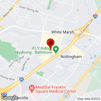 Map of Staples® Print & Marketing Services at 8115 Honeygo Blvd, Nottingham, MD 21236