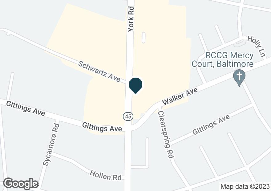 Google Map of6301 YORK RD