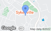 Map of Sykesville, MD