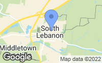 Map of South Lebanon, OH