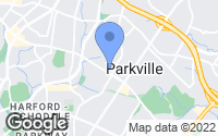 Map of Parkville, MD