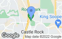 Map of Castle Rock, CO