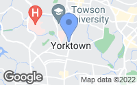 Map of Towson, MD