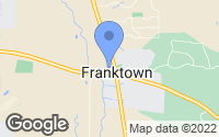 Map of Franktown, CO