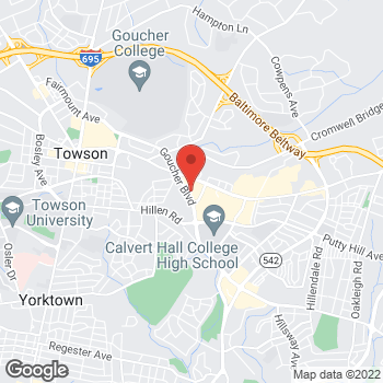 Map of Noodles & Company at 825 Goucher Blvd., Towson, MD 21286