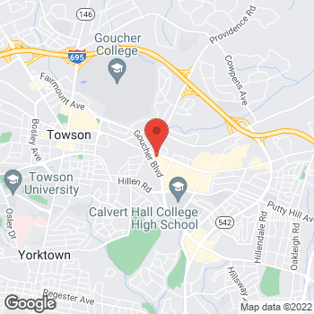 Map of Tuesday Morning at 803 Goucher Blvd, Towson, MD 21286