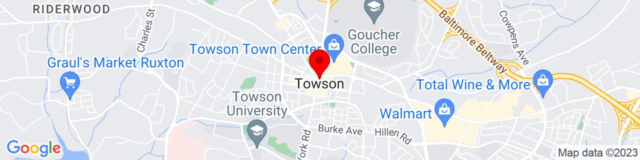 Google Map of 39.4014955, -76.6019125