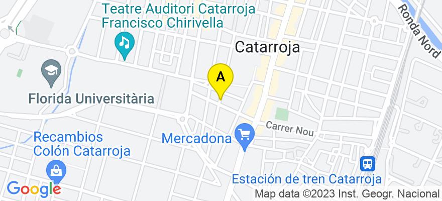 situacion en el mapa de . Direccion: C/ Trinquet nº 51 bajo 2, 46470 Catarroja. Valencia