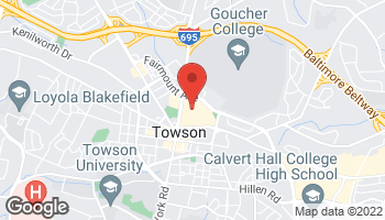 Map of 825 Dulaney Road in Towson