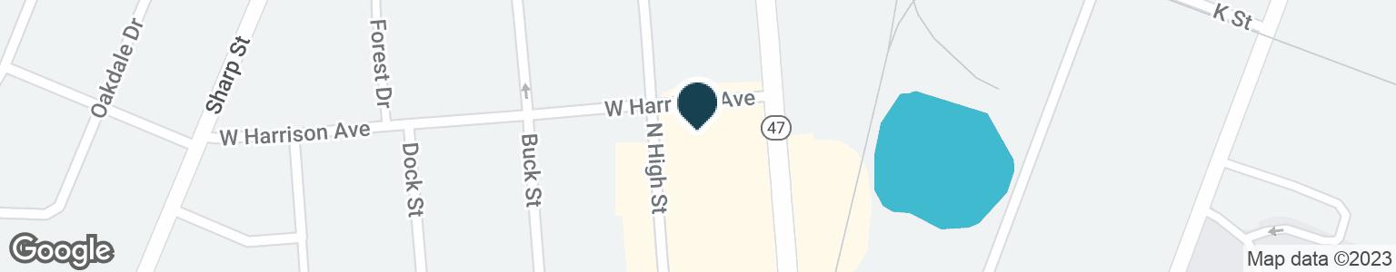 Google Map of1111 N HIGH ST