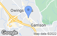 Map of Garrison, MD