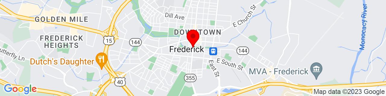 Google Map of 39.4126455, -77.4111808