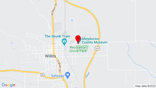 Google Map of 400 E. Commercial Street, Willits, CA 95490