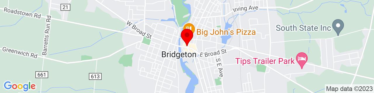 Google Map of 39.42722222222222, -75.23416666666667